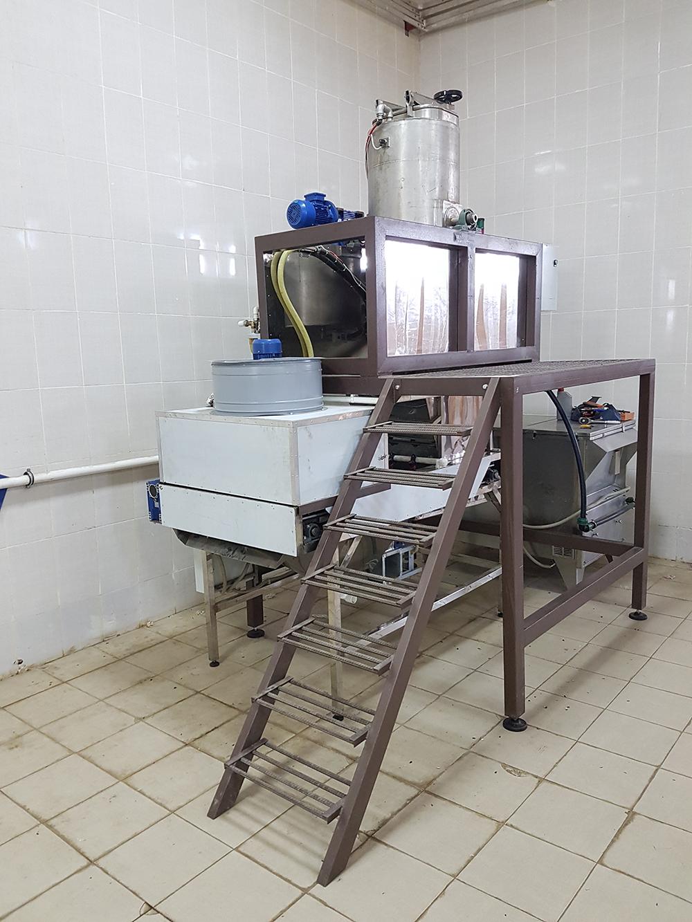 Автоматическая линия для вакуумной солки семечек